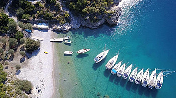 Flotillasailing in Turkey, Cold water bay